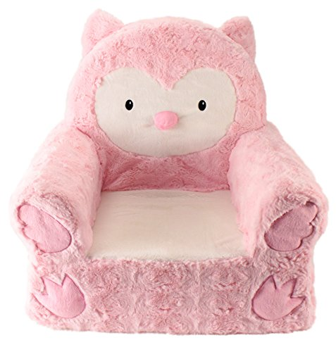 adorable pink owl children chair