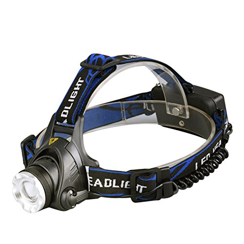 Highlight LED Head Lamp Waterproof Adjustable Charging Headlamp for Fishing - Meridian Stores Mall