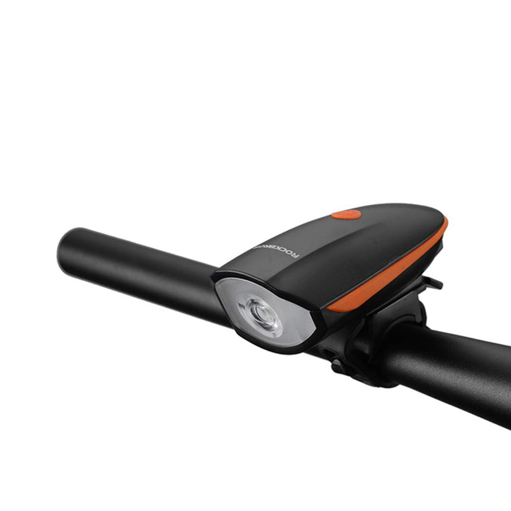 7588orange Bicycle Running USB Rechargeable LED Light T6 Waterproof Bicycle 250 lumens Headlights Electric Speakers 5 colors