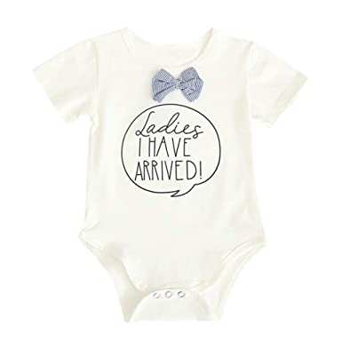 2175323dad7 Amazon.com  Newborn Girls Romper Outfits Set Short Sleeve Jumpsuit Bodysuit  Infant Summer Clothing  Clothing