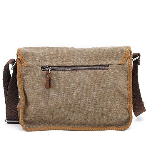 Simple Zip Canvas Sac À Travail Bag Retro Aszhdfihas Le Et Pour Crossbody Couleur Bandoulière L'école Bags Travel Messenger Kaki zRn1vf0q