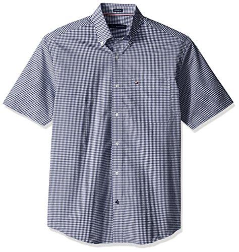 tommy-hilfiger-mens-short-sleeve-reg-fit-gingham-buttondown-collar-dress-shirt-riviera-blue-165-neck