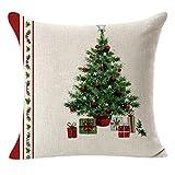 "Hot Sale!Pillow Cover - Linen Square 18""x18"" Decorative Cushion Case - Invisible Zipper (A)"