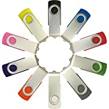 Enfain 16GB USB Flash Drive Memory Stick Thumb Drives (MultiColor, 10 Pack)