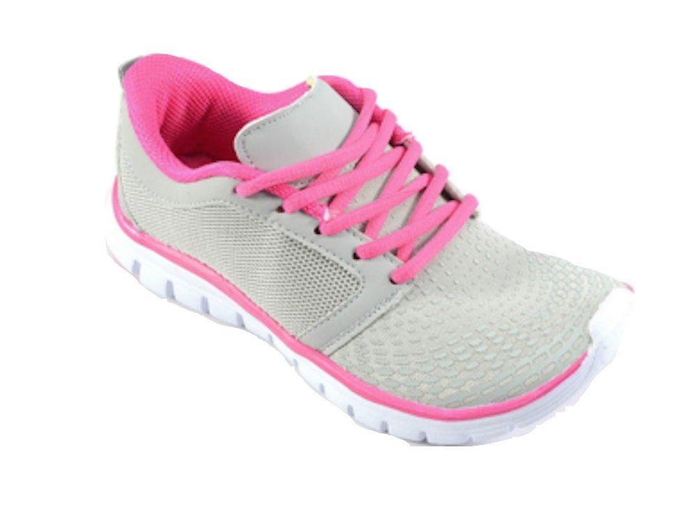Runner Corkys Footwear Lace-up Sneakers (10, Pink/Grey)