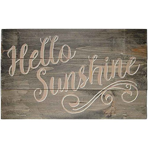 Sunshine Hanging Slat (Carson Wooden Sunshine Outdoor Signage Decor)