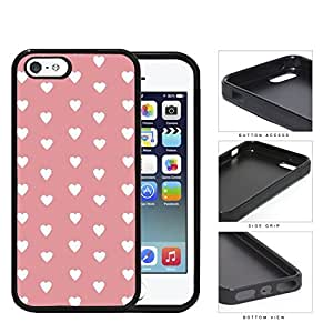 Hearts Pattern On Pink Background Rubber Silicone TPU Cell Phone Case Apple iPhone 5 5s