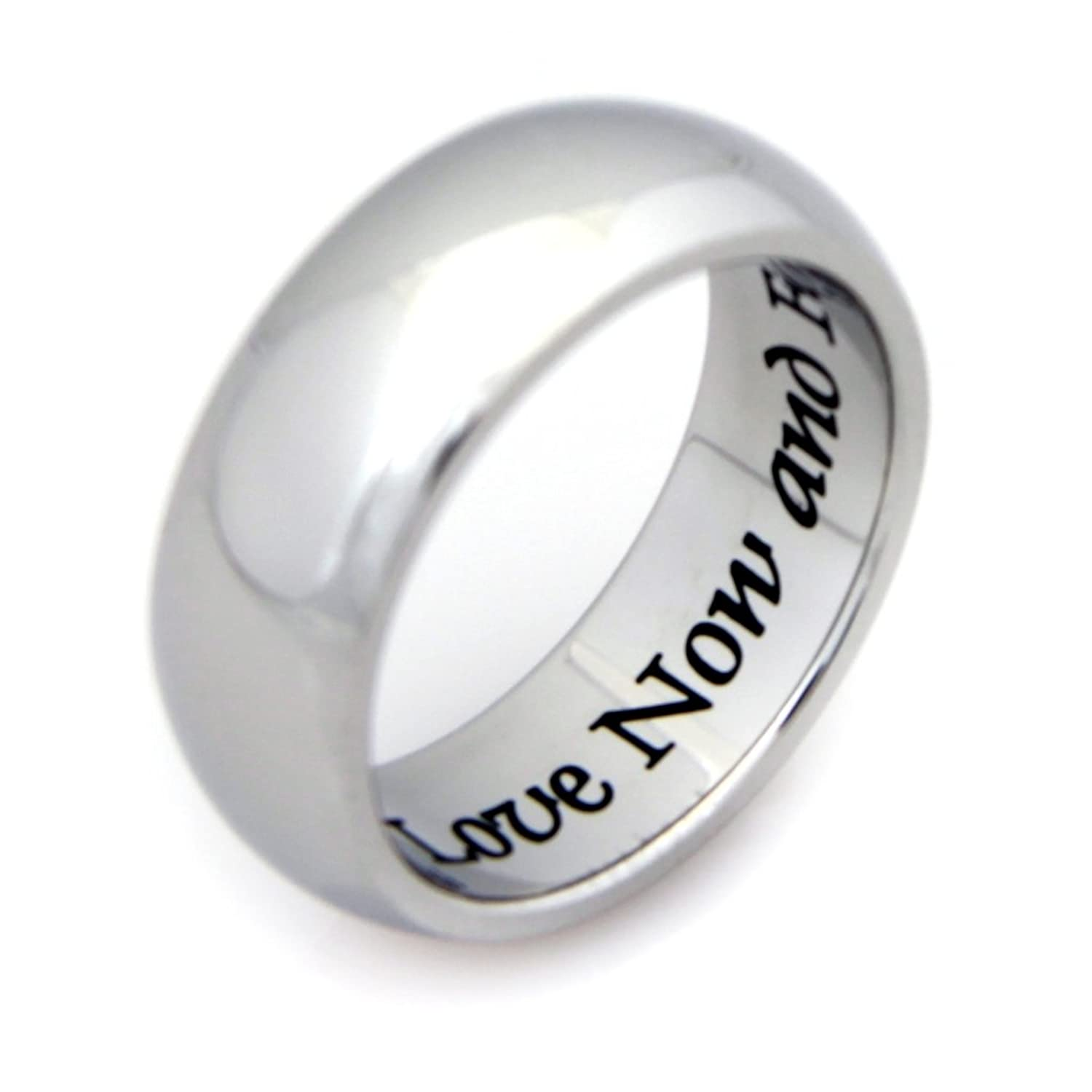 love now and forever ring stainless steel ring