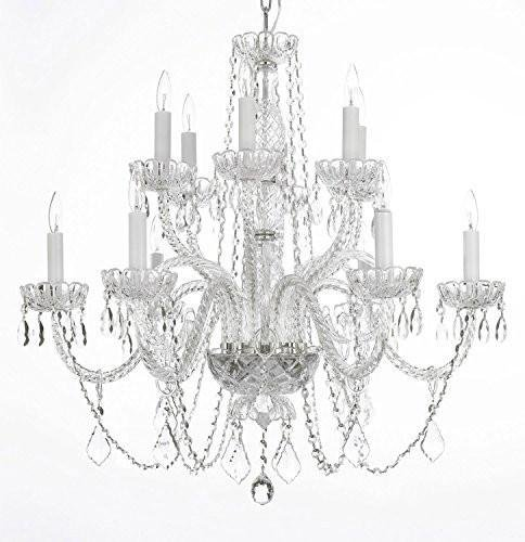 Swarovski Crystal Trimmed Chandelier! Chandelier Lighting Crystal Chandeliers H27″ X W32″