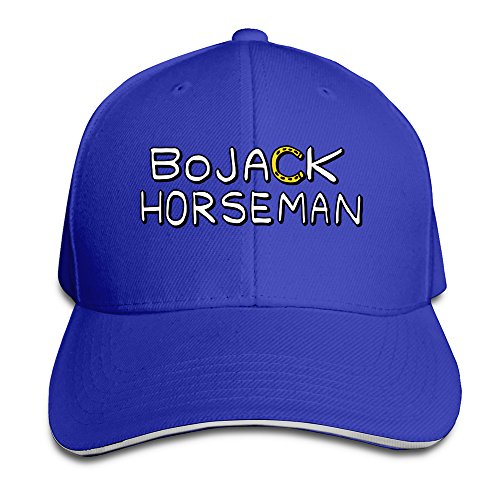 bojack-horseman-logo-unisex-100-cotton-adjustable-basaball-cap-royalblue-one-size
