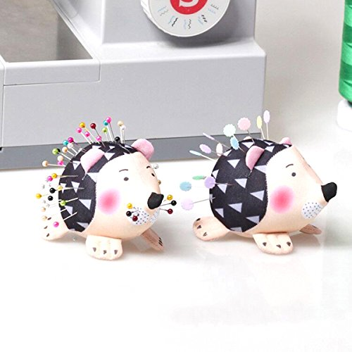 HONEYSEW Pin Cushion Patchwork Pin Holder 2PCS DIY Craft Hedgehog