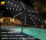 STRONG CAMEL 9'NEW 40 LED LIGHTS PATIO UMBRELLA WITH CRANK TILT GARDEN OUTDOOR -BLACK Review