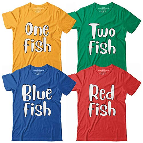 One-Two Fish Blue-Red Fish Halloween Costume Family Group