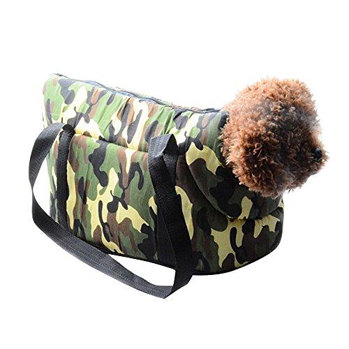 Eizur Tarnung Tragbar Hundetasche Carrier Draussen ReiseTragetasche Haustiertasche Hundetragetasche Katzentasche Handtasche für Hunde Katzen Hündchen Kleintiere Größe 44*23*28cm