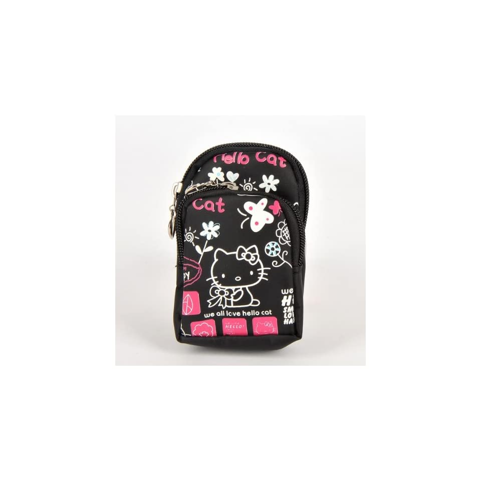 Hello Kitty Cell Phone PDA Pouch Case Bag Black