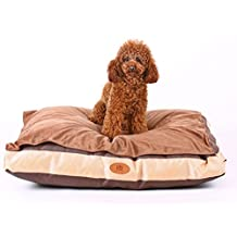 [New Release, February 2016] PLS Pet Quiet Time Pet Bed Duvet Brown (Medium 24Wx30L), Chew-proof Replacable Covers, Removable Top Fleece Cover, Easy-Clean, For Crates