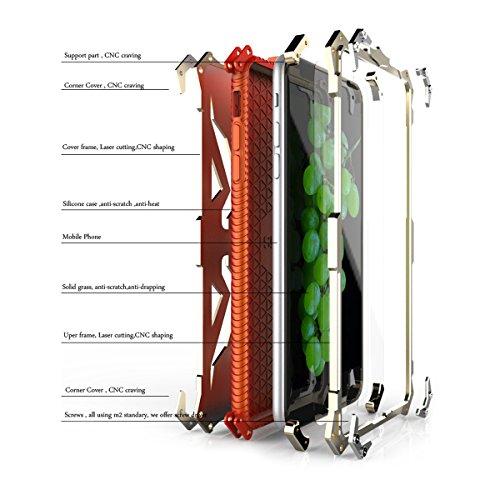 Alienwork Schutzhülle für iPhone 6 Plus/6s Plus Stoßfest Hülle Case Bumper modisch Aluminium silber AP6SP04-03