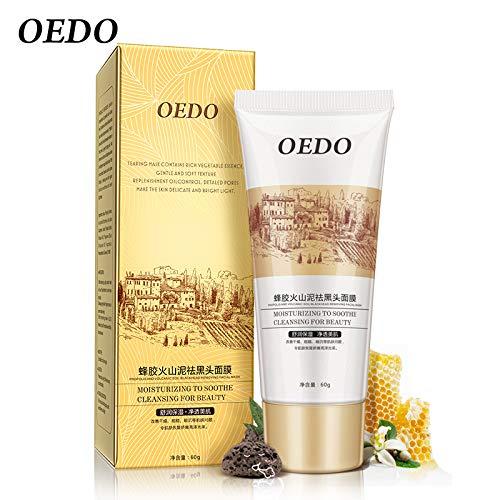 OEDO Black Mask Face Acne Remove Blackhead Repair Peel Mask Propolis Volcanic Mud Moisturizer Deep Cleansing Whitening Skin Care Color black (Deep Mask Mud Cleansing Volcanic)