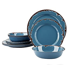 Amazon.com | Melamine Dinner Dishes Set - Yinshine 12 PCS