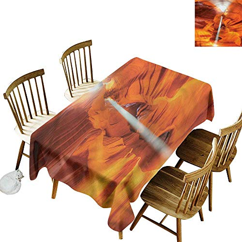 Sandstone Dining Sunbrella - Sillgt Rectangular Tablecloth Americana Sandstone Sunbeam Canyon Resistant/Spill-Proof/Waterproof Table Cover 54