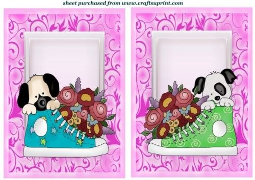 2cachorro Floral Sneaker de Fronti 2de Sharon Poore