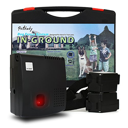FunAce In-Ground 2 Dogs Containment Fence Heavy Duty System with Adjustable Shock-Level Receiver Collar, Extra Thick 0.8mm 20 Gauge Wire, Built-in Lightning Protection with Fuse