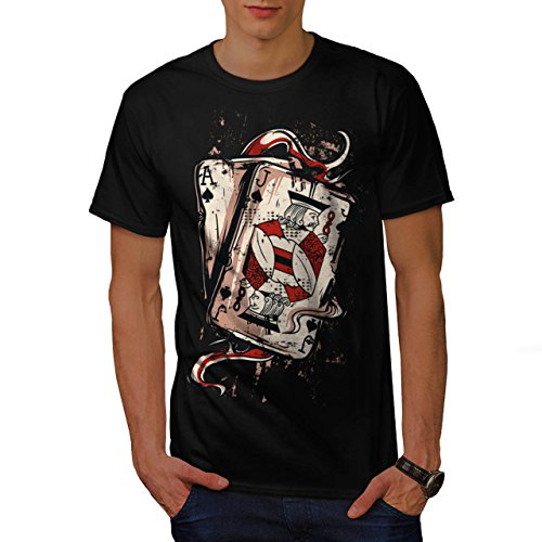 Ace Jack Of Spades Card Playing Men NEW S T-shirt | Wellcoda (Ace Of Spade Boot)