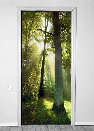 Innovativ selbstklebende Türtapete Türposter Türfolie Fototapete Tür Wald  HK23