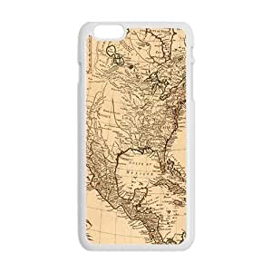 SANYISAN Ancient Map Buried Treasure White iPhone plus 6 case