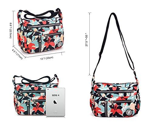 Shoulder Anti Crossbody Flower Bags Lily Water calla Splash Messenger Women ABLE 4 TW1On7q