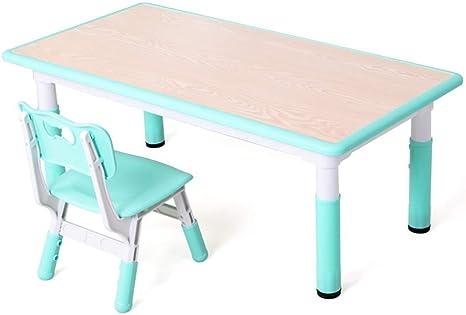 TONGSH Juego de Mesa de Madera para niños de 1 a 5 años, Juego de sillas de Mesa de Actividades, Mesa de Estudio y Silla para niños, Juego de Mesa de Madera