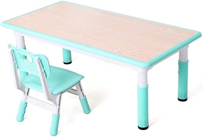TONGSH Juego de Mesa de Madera para niños de 1 a 5 años, Juego de sillas