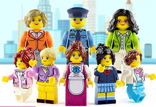 (Sabsta) 미니 피 규 어 입고 블록 인형 (일 하는 여자의 자 세트 8 체 세트 닥터 박사 승무원 순경 겠다 학생 직원 비서) / (sabsta) Minifig Block Doll (Working Woman Set 8 Body Set Doctor Teacher Flight Attendant Housekeeper Student Cler...