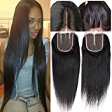 Shireen 8A Grade Brazilian Straight With Closure 3 Bundles with Lace Closure Free Part 100% Unprocessed Virgin Human Hair Weave Extensions Bundles and Closure (18 20 22+16inch closure) Review