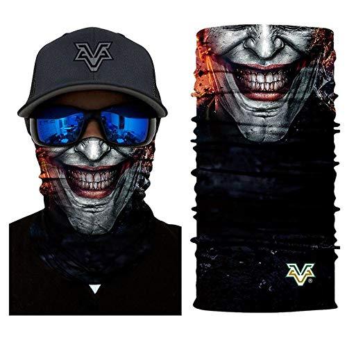 3D Headband Headscarf Bandana Joker Gotham Superhero Face Mask Movie Cosplay Scarf Tube Neck Full Lower Half Shield Sun Hiking Airsoft Paintball No.232 -