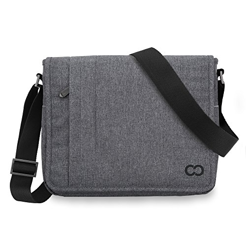CaseCrown Campus Messenger Bag (Charcoal Gray) for Microsoft Surface Pro 3
