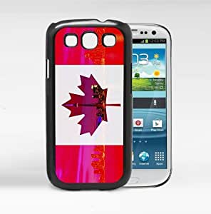 Canada Flag with City View in Maple Leaf Red and White Hard Snap on Phone Case Cover Samsung Galaxy S3 I9300