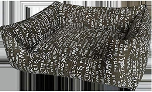 [ENDURING]:ペットベッド ペットソファ 洗える 通気性が良い 柔らかい 暖かい 四季のユニバーサルソファベッド ストライプ スクエア型 キャンバス 猫用ベッド 犬用ベッド ペット用品 赤ベッド XXL