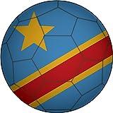 Democratic Republic Of Congo Flag Soccer Ball Home Decal Vinyl Sticker 12'' X 12''
