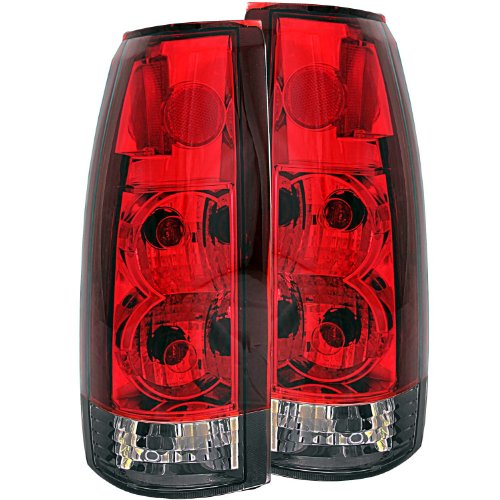 AnzoUSA 211157 Red/Smoke G2 Taillight for Chevrolet GM Truck - (Sold in Pairs)
