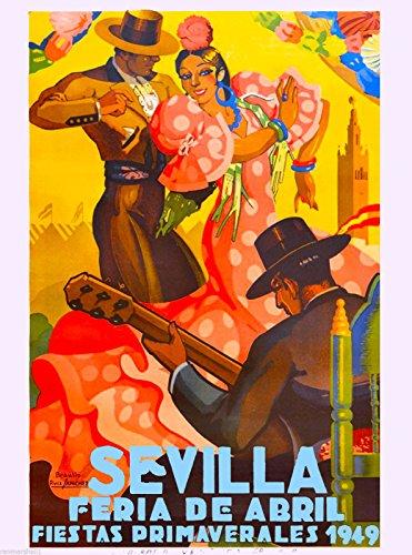 Рекламный постер 1949 Sevilla Seville Spain