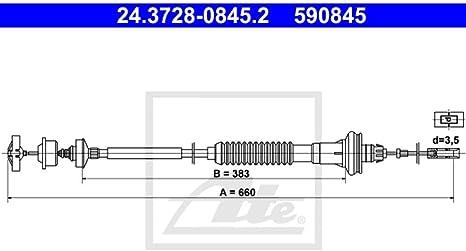 TRW GCC3103 C/âble souple de commande dembrayage