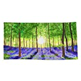 Society6 Beach Towel, Bluebell Woods by catieeliza, Polyester-Microfiber Front, White Cotton Terry Back