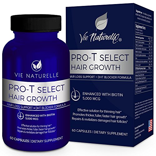 Hair Growth Vitamins with Biotin 5000mcg – DHT Blocker & Saw Palmetto Hair Loss Supplements for Women and Men – Hair Skin and Nails Vitamins – 60 Vegetarian Pills Capsules For Sale