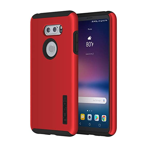 purchase cheap 33be6 5b0af Incipio LGE-366-RBK LG V30 / V30 Plus DualPro Case - Iridescent Red/Black