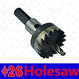 Dia 26mm HSS Core Drill Bit Metal Cutter HSS Steel Holesaw Drill Bit Cutter Tool For Metal Wood Alloy Drill Hole Free Shipping