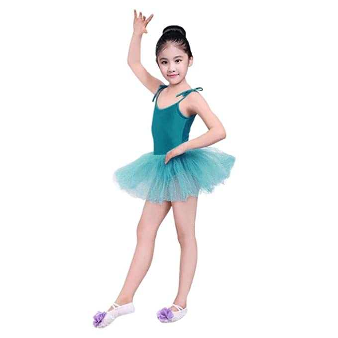 e64abfab3 Momola Toddler Kids Girls Tiered Gauze Lace-up Leotards Ballet Bodysuit Dancewear  Dress Clothes Outfits - for Age 2-6 Years Children: Amazon.co.uk: Clothing