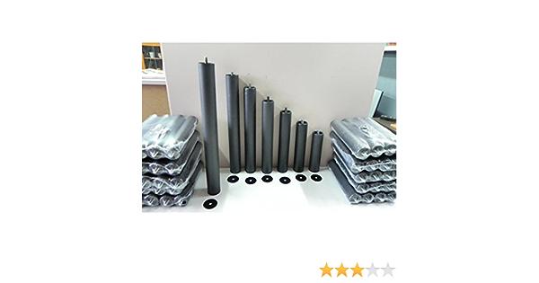 Abitti Pack 6 Patas cilíndricas METALICAS 50cm Altura Especial, ANTIRUIDO para Base TAPIZADA o SOMIER. Montaje rápido y fácil