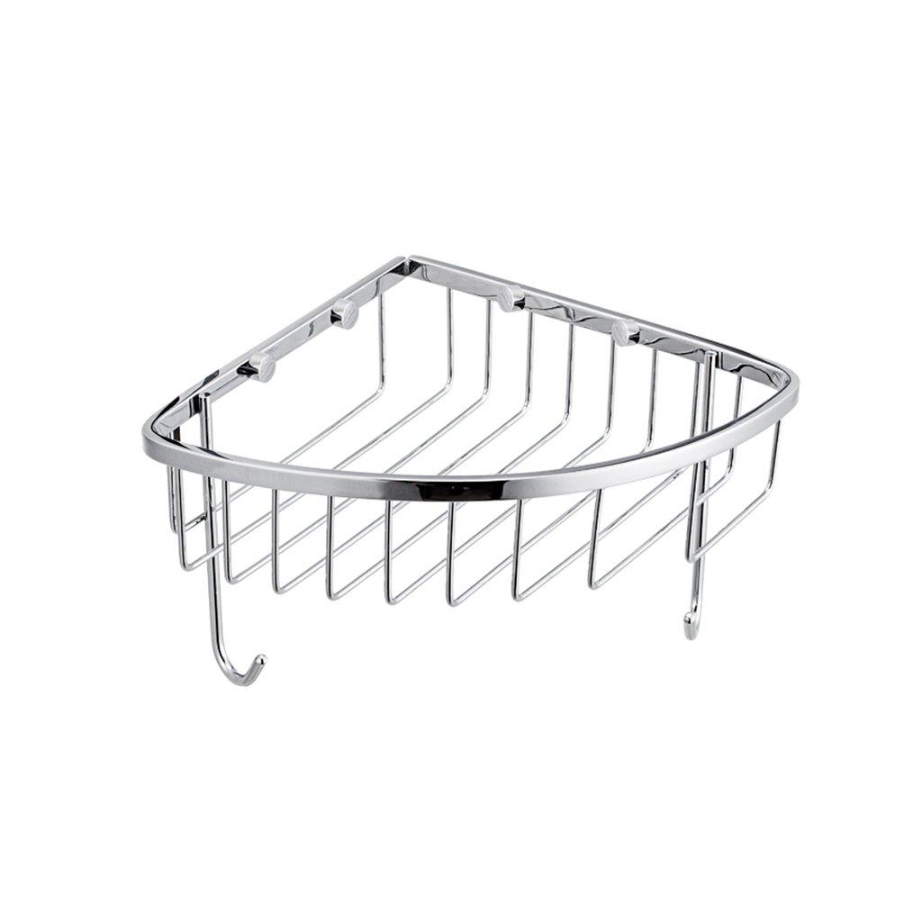 MS-Bathroom shelf Nine Animal Husbandry Bathroom Accessories Stainless Steel Bathroom Corner Rack With Hook Angle Basket Rack 200mm200mm @