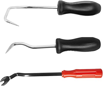 Hose Removal Hook Set with Fastener Remover SourceTon 3 Pieces Hook and Pick Set Radiator Vacuum Hoses Trim and Transmission O Ring Removal Tools